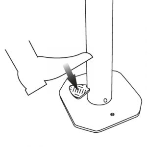 Foot operated pedal dispensor
